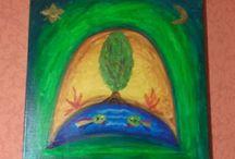 Festményeim akrillal vászonra