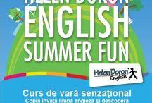 """English Summer Fun / Invităm copiii la centrul de limba engleză Helen Doron Early English, din Târgu Mureş, să participe la cursurile de vară din anul acesta.  """"Cei care știu limba engleză o aprofundează, cei care nu o cunosc, se iniţiază!"""""""