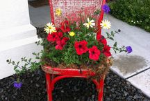 Garden Containers/Yard Art Ideas