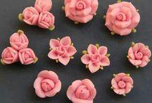 flori,pasta de zahăr