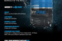 MYPRE WOTW / Looking for the best weight training plan? Why not try our Mypre workout plans. Each week you'll get a new routine to add to your gym plan. Gain muscle and lose fat with weight training. / by Myprotein
