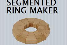 Houten ring met segmenten