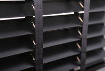 Zwarte houten jaloezieën 50mm / Zwarte jaloezieen van lindehout