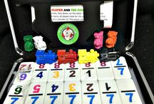 Domino Products for Seniors / Seniors love dominoes.  As they mature, they lose their eyesight so products like large train markers, large print rules and scorepads and numbered dominoes help.