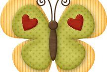 mariposas de fieltro / by Luis