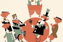Music illustrations / Ilustrações de temática musical