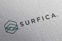 Surfica Laminate Logo Design