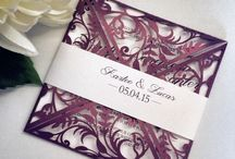 die cut wedding invitation