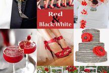 Trouwen zwart rood wit