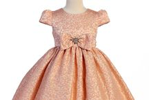 Coral, Peaches, Orange Flower Girl Dresses / Flower girl dresses in coral, peach or orange color or with those color accents.
