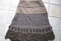 Heklet og strikket skjørt