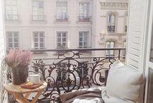 mały balkon