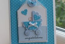 Cartes Bébé / Baby cards / girls and boys / cartes homemade