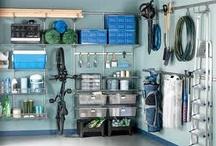 iNspiration ~ Garage / I'd think I died and went to heaven if my garage looked like these photos, but with a husband in construction, he has a lot of stuff.  Always a work in progress to organize and keep it that way. / by Robin Rix