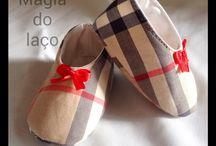 Sapatinhos / Sapatinhos em tecido para bebés até aos 6 meses