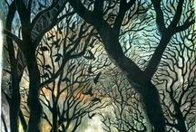 Puupiirros/Woodcut print