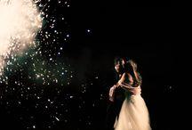 Wedding Fireworks / Photographs of wedding fireworks taken by one thousand words wedding photography