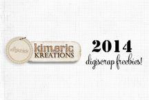 Scrap Freebies / Kimeric Kreations scrap freebies for 2014