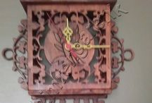 Ahşap Oyma Saat--Wood Carvings Hours