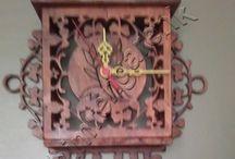 Ahşap Oyma Saat--Wood Carvings Hours