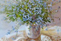 flowers, herbs. botanical illustration