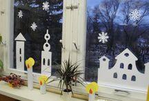 výzdoba triedy / Ako vyzdobiť okná, dvere a celú triedu.