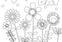 Colouring sheet Mother's Day
