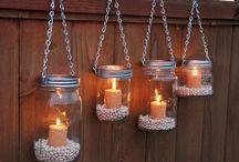 svíčky, svícny, ...