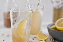 Ginger lemongrass basil spritzer