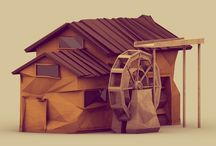 _Low Poly_Art / #Lowpoly #Art #Illustrations