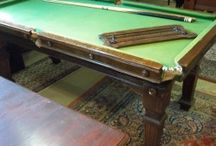 Antique Snooker Dining Tables for sale / Antique snooker dining tables for sale at Brown's Antiques Billiards and Interiors. Includes restored tables which may have now sold.