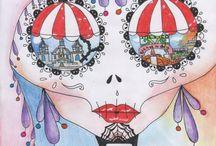 """CONCURSO """"A TRAVÉS DE LOS OJOS DE LA CATRINA"""" / Recopilación de carteles participantes en el concurso """"A través de los ojos de la Catrina"""" de la 5ª EXPO-ENCUENTRO"""