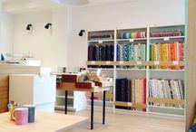 La Mercerie Fine / My own fabric shop located in Paris (25, rue Saint-Sebastien) ^^