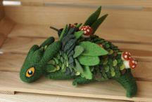 dragões de feltro