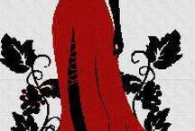 femeia cu rochie rosie