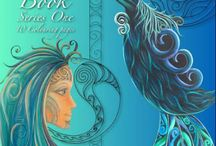 Reina Cottier Art~ Colouring Book. / 23 page colouring book- by Reina Cottier. Beautiful images inspired and influenced by Maori/Pacifica/New Zealand/Native styles. Each image is taken from original paintings by Reina.  To buy go here: https://reinacottiershop.com/products/reina-cottier-art-colouring-book