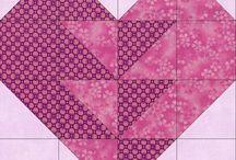 Corações cor de rosa