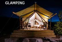 """#travelbetter - Glamping & You / Enjoy nature's beautiful landscapes, minus the discomfort and inconvenience of truly """"roughing"""" it.  Wanna go glamping?  Travel Leaders can get you there!"""