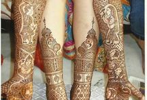 Rajasthani Style Indian Wedding Mehndi / Creative inspiration of this beloved traditional mehndi style for brides.