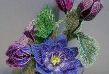 kvety korálky