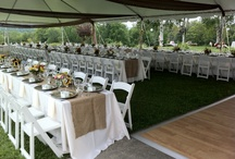 Tables and Chairs / No need for plain steel folding chairs or square card tables.  There are so many options for seating!