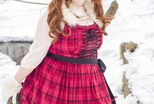 Gloomth Snow Doll / Plus size lolita fashion in a wintery snow landscape. Winter lolita makeup inspiration.