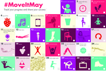 #MoveItMay Challenge / Follow our #MoveItMay challenge for tips on staying active and eating healthy. Small steps make a big difference toward heart health! Track your progress and share your success! / by The Heart Truth