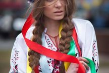 Colorful women or girls, mostly in Ukrainian or Bulgarian folk fashion and national costumes / I am impressed by this perfect mix of amazing female beauty and these wonderful dresses. Very lovely. Amazing beauties. It looks I chose the ladies from UKRAINE a lot. They are wonderful.