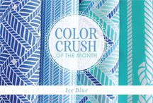Stuck on Hue: Ice Blue / Guildery's January Color Crush / by Guildery