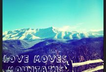 Love moves mountains 1st Corinthians 13 / Love / by Cydney Rowell