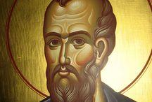 Іконы святых і анёлаў