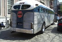 Rob's Dream Kitchen / Rob plans to design our kitchen based on a 1948 GM PD4151 Greyhound Silverside Bus  / by Spongetta