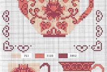 Cross Stitch - Teapots