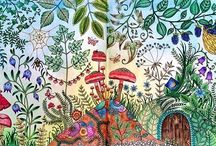 Zaczarowany las enchanted forest Johanna Basford / Zaczarowany las enchanted forest Johanna Basford  coloring book for adult